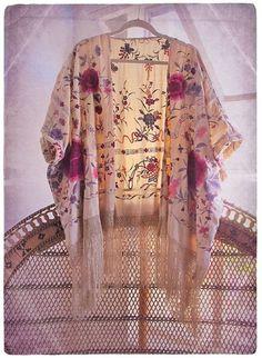 coat floral kimono boho gypsy bohemian clothes clothing roses
