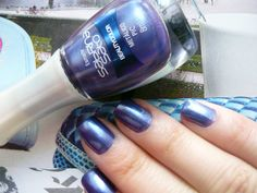 Esmalte roxo metálico, cor PIC da Beauty Color #purple #nailpolish