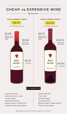 A comparison of Cheap vs Expensive wine {wineglasswriter.com/}