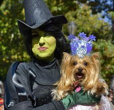 Not into Dorothy and Toto? How about the Wicked Witch and Glinda for a new owner-pet costume pairing!