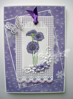 A Passion For Cards: Lilac and gingham