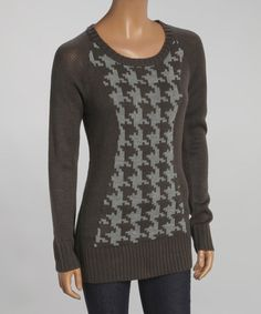 Look what I found on #zulily! Charcoal & Heather Gray Houndstooth Sweater #zulilyfinds