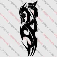 Pegame.es Online Decals Shop  #tribal #tatoo #dragon #vinyl #sticker #pegatina #vinilo #stencil #decal