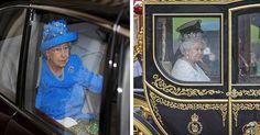 Il look della Regina durante del Queen's Speech è la fotografia di un'epoca