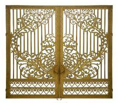 Cổng nhôm đúc mẫu GAT 103 Interior Stair Railing, Grades, Front Gates, Main Door, Iron, Modern, Screen Doors, Laser Cutting, Decor