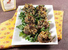 Mustard Glazed Bacon and Kale Stuffed Mushrooms by LittleRedKitchen, via Flickr