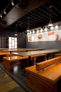 korean interior design - prons, hicago and estaurant on Pinterest
