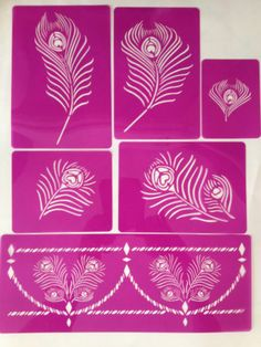 Peacock Feather Stencils for Cakes Cupcake Cookies Cake Decoration | eBay
