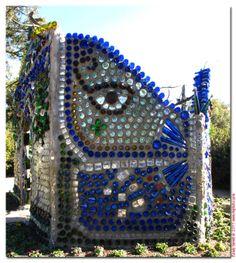 Bottle Wall... Budweiser has a new blue bottle :)