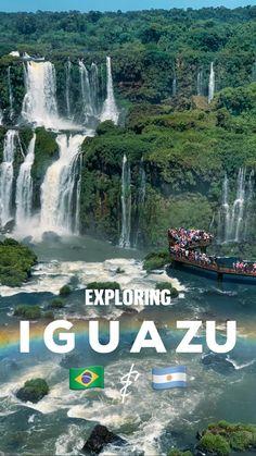 Beautiful Places To Travel, Wonderful Places, Amazing Places, Beautiful Waterfalls, Beautiful Landscapes, Iguazu National Park, Landscape Photography, Travel Photography, Largest Waterfall