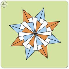 kalami star - instruction #origami #paper #star