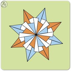 kalami star - instruction #origami #paper #star