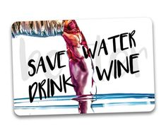 Items similar to WINE Fridge Magnet. on Etsy Water Into Wine, Reminder Quotes, Drink Wine, Wine Fridge, Save Water, Magnets, Etsy Shop, Gift Ideas