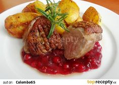 Minutková kachní prsa Steak, Food And Drink, Favorite Recipes, Treats, Chicken, Sweet Like Candy, Goodies, Steaks, Sweets