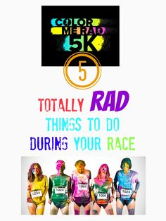 Must pin & read if you plan on running the Color Me Rad 5K race. Great race to run with kids.