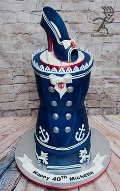 Heels & anchors cake