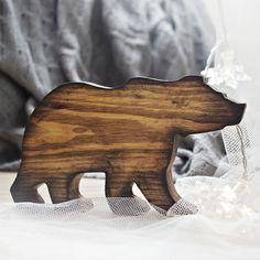 Świąteczny NIEDŹWIEDŹ! Ozdoba drewniana  http://bogatewnetrza.pl/pl/p/Ozdoba-swiateczna-Niedzwiedz-z-drewna/408