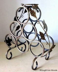 Wine Rack from Wrought Iron Moods