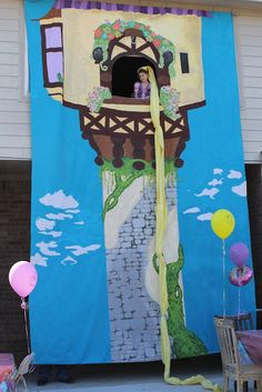 Rapunzel birthday party | the paquettes: The Tower for Photobooth