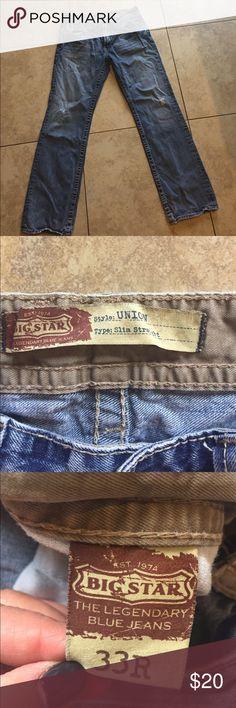 Men's Bigstar Jeans size 33reg. Men's bigstar jeans size 33R Big Star Jeans Slim Straight