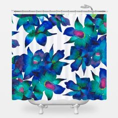 Shower Curtains from WallsNeedLove | lifestyle #orchid #floral #floraldesign #pattern #designlove #interiordesign #colour #chic #showercurtain #shower #bath #orchidlover
