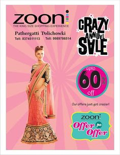 #STYLE: because your personality isn't the first thing people see. Our updated collection in stores now... Upto 60% Off! Hurry! Limited offer...  #Womens_Fashion #Sale #Zooni!