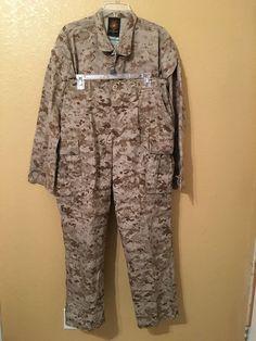 USMC US MARINE CORPS BDU MARPAT DESERT CAMO CAMOUFLAGE IRAQ COMBAT SET MED