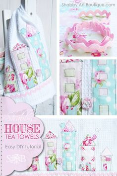 are you in search of some adorable shabby chic crafts ideas? This tells you how to appliqué with sewing machine & make some adorable towels! Perfect idea for shabby chic crafts to make & upcycle some towels. http://www.hearthandmade.co.uk/how-to-applique/
