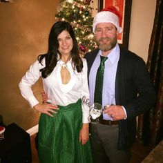 clark and ellen griswold christmas party costume christmascostume nationallampoonschristmasvacation clarkandellen christmas vacation - Clark Griswold Christmas Vacation