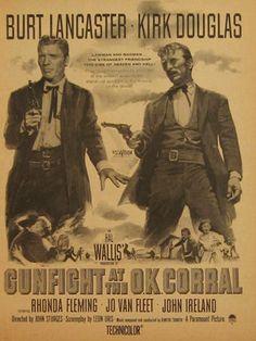 Gunfight at the O.K. Corral, Burt Lancaster 1957 Movie Ad