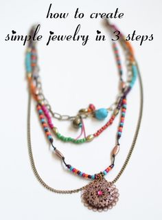 Simple DIY Jewelry ~ The Shine Project