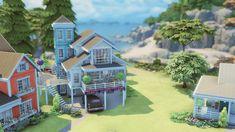 Sims 4 House Building, Sims House Plans, Cry Anime, Anime Art, Sims 4 Family, Sims 4 Anime, Sims 4 House Design, Cartoon House, Casas The Sims 4