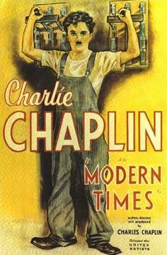 MODERN TIMES Writer/Director: Charlie Chaplin Starring: Charlie Chaplin, Paulette Goddard, Henry Bergman, Tiny Sandford One of my goals. Old Movie Posters, Classic Movie Posters, Cinema Posters, Classic Films, Paulette Goddard, Comedy Movies, Film Movie, Old Movies, Vintage Movies