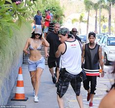 Lovebirds reunited: Kylie's beau Tyga, 25, turned up later in the day
