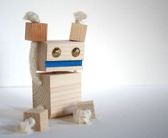 Image result for wooden block bots | block bots | Pinterest ...