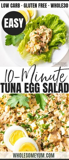 An EASY tuna egg salad recipe! See how to make tuna salad with eggs in just 10 m… An EASY tuna egg salad recipe! See how to make tuna salad with eggs in just 10 minutes. Plus, tuna and egg salad stores is healthy and perfect to make ahead. Tuna Egg Salad, Fish Salad, Healthy Tuna Salad, Easy Tuna Salad Recipe With Egg, Salad With Eggs, Salad With Tuna, Tuna Noodle Salads, Ham Salad, Healthy Salad Recipes