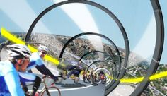 Velo-City: Cycle Tracks Will Abound in Utopia Transportation Technology, Future Transportation, Coaster, Sky Bike, Borne De Recharge, Velo Design, Sustainable Transport, Bike Trails, Urban Planning