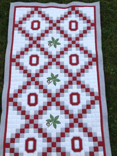 Ohio State Buckeyes  OSU Twin or Throw Sized by MidWestThreadsOhio, $175.00