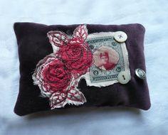 Hand made lavender sachet  appliqued lavender by elizabethkelley1, $20.00