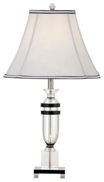 Bassett Mirror - Hollywood Glam Pickfair Table Lamp - Clear & Black Crystal - L2 - traditional - Table Lamps - Salt Lake City - GreatFurnitu...