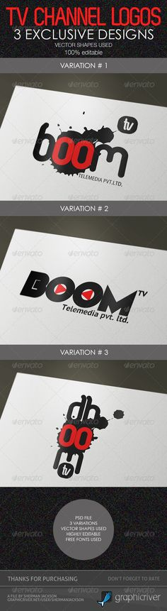 Creative TV Channel Logo Templates (PSD)