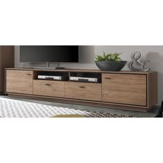 Hazelwood Home Salinas TV Lowboard Tv Unit Decor, Tv Wall Decor, Tv Unit Furniture, Furniture Design, Furniture Outlet, Living Room Tv, Home And Living, Muebles Rack Tv, Television Cabinet