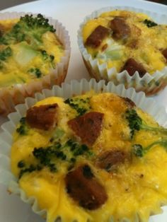 Egg Muffins with Sausage and Broccoli