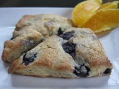 Blueberry Scones - As good as a scone from Panera! The texture and flavor of these was perfect, I will be making this recipe over and over again.