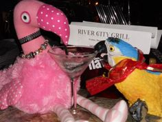 Patsy and Paulie share a martini at River City Grill in Punta Gorda, Florida