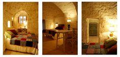 Bedroom of the hotel Masseria Cervarolo in Italy
