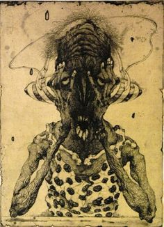 Temple Ov Arts — Pleasures by Toshihiko Ikeda. Art And Illustration, Drypoint Etching, Etching Prints, Art Optical, Great Works Of Art, Arte Horror, Horror Art, Gravure, Portrait Art
