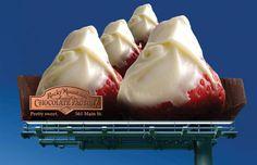 #October 14 #NationalDessertDay #Dessert #ChocolateFactory #Strawberries #OOH #OOHextensions #Creative #Bulletin