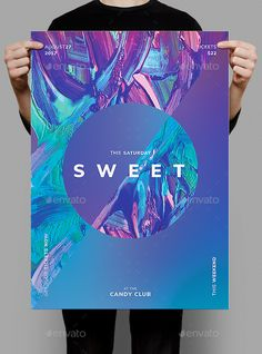 Sweet Flyer / Poster Template - Clubs & Parties Events Source by Flyer Poster, Club Poster, Poster Layout, Party Poster, Poster Ideas, Hiring Poster, Party Font, Crea Design, Event Flyers