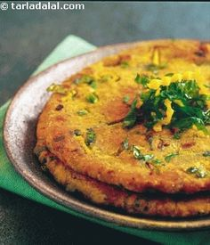 Kaddu Palak ki Roti (Griddle bread with pumpkin and spinach)